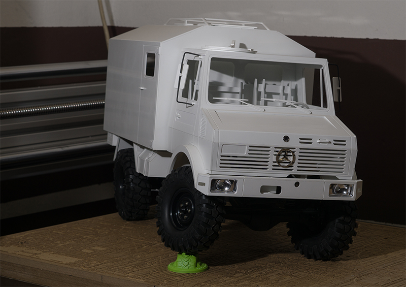 Unimog 1550 L/'37 DoKa Double Cab Womo 1:10 Scale Frässatz passt auf AXIAL SCX10